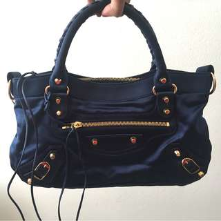 Balenciaga First Bag in Satin Blue (Limited Edition)