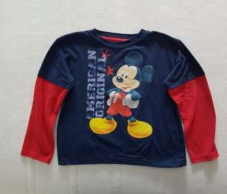 Mickey Mouse long sleeved shirt