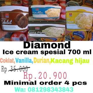 Promo diamond ice cream all varian rasa 700ml