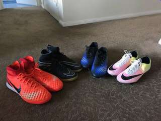 Soccer boot clear-out