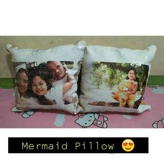 Personalized mermaid pillow