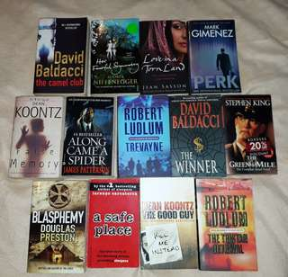 Soft Cover Triller Novels