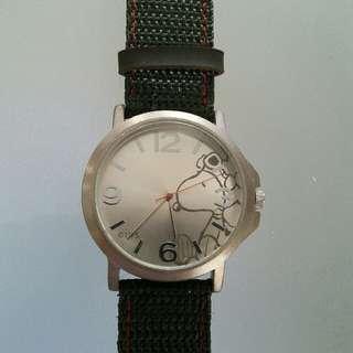 Snoopy軍綠錶帶手錶