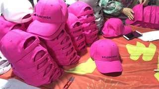 BLCG pink cap 巴黎世家 2018
