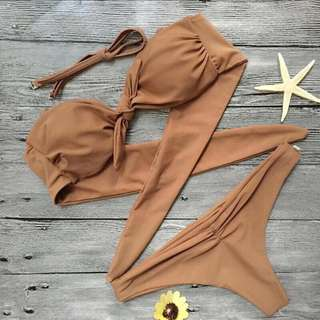 Lady Swimsuit Sexy Bowknot