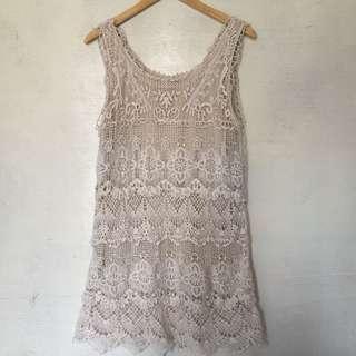Christopher & Banks Cream Summer Dress