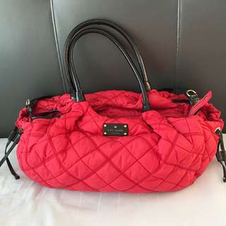 Kate Spade Classic Red Quilted Baby Diaper Bag