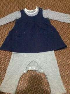 Authtc romper set dress n pants