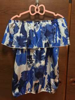 PL: Off Shoulder Top (Blue)