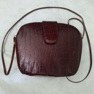 Vintage Sling Bag genuine leather