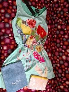 Roger Vivien tote bag 小布袋, AM summer top 上衣,  pouch 拉鏈袋