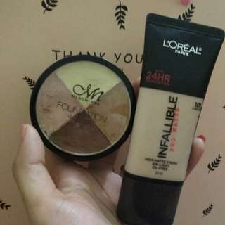 Loreal Infallible Pro-Matte and MN pro corrector