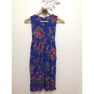 FLORAL DRESS WITH RIBBON BELTS
