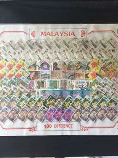 Malaysia 100 stamps , original packaging , Free Registered Mail