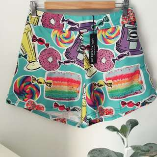 Festival, rainbow candy shorts