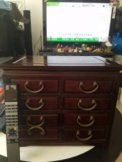 古董花梨木小櫃, 首飾箱