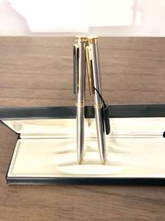 Brand new gold silver pen pencil set