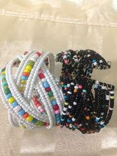 Adjustable bohemian bracelet colourful