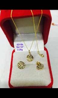 18k saudi gold set