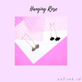 Hanging rose-earrings