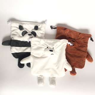 (PO) We Bare Bears Fluffy Pouch