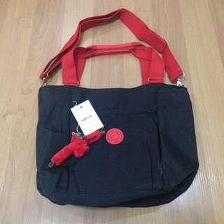 New:Kipling sling bag in black&red