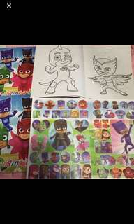 Instock Pj mask A4 Coloring And Stickers book brand new bulk purchase pls pm me