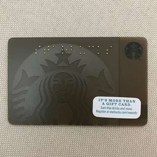 Starbucks Card - Braille