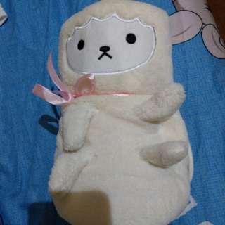全新可換物 牛奶熊毛毯