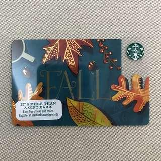 Starbucks Card - Fall