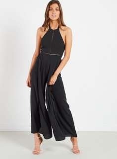 WHOIAM Rust Open Tie Back Jumpsuit Size 6