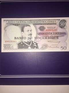 Mocambique 50 Escudos year 1970