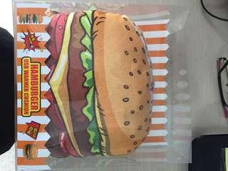 漢堡包形發熱攬枕