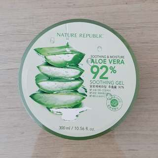 Dijual 1 pcs Nature Republic Aloe Vera 92% Soothing Gel - KW (expired date : 26 December 2018)