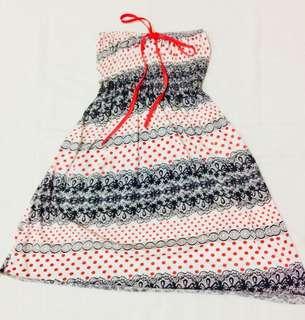 Gartered Tube Summer Dress  (NOT4SWAP)