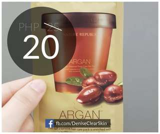 NATURE REPUBLIC Argan Essential Deep Care Hair Pack sampler