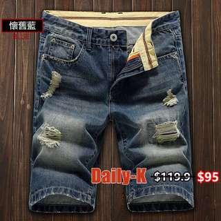 18年春夏貨品 WLYJ-8198 懷舊洗水牛仔短褲