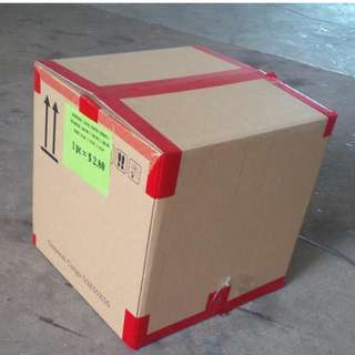 Used Carton Box ( Square Box)50cmx50cmx50cmH   (10Boxes=1Pack)