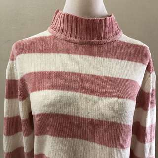 Pink Stripes Knit Top