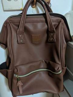 Anello leather brown bag. Practically new