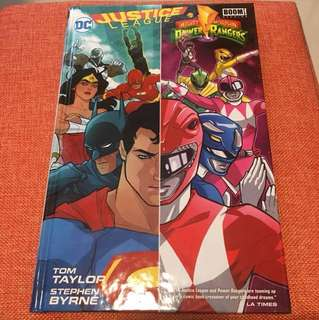 Justice league Power Rangers hardcover