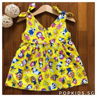 🐧INSTOCK - Yellow Pororo Ribbon Dress 🐧