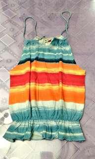 Slightly used Original Tommy Hilfiger.colored striped.spaghetti strap