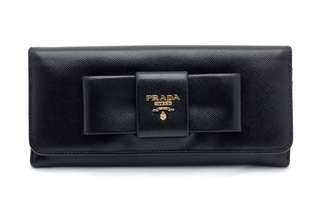 PRADA Saffiano Lux Fiocco Wallet