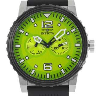 Invicta Specialty 13645 Quartz Analog Day Date Green Dial Polyurethane Men