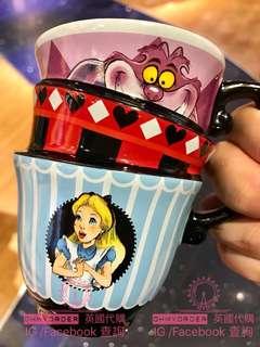 🇬🇧Disney Store 新版Alice 斜形茶杯 陶瓷品