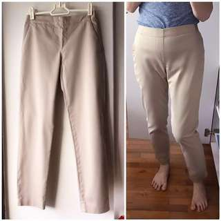 Uniqlo brand new light brown Camel Tan trousers pants tapered skinny straight fit well tailored for work office formal corporate dress