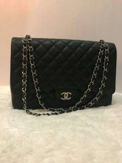 Chanel Maxi Black Caviar Shw #13 || Holo & DB NO CARD || 38,5jta