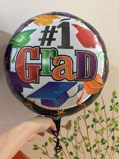 "18"" #1 Grad Foil Balloon"