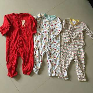 $6 for 3 Mothercare Sleepsuits